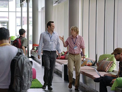 <b>GOOGLE CRASHERS:</b>  Vince Vaughn and Owen Wilson star as Billy and Nick in <i>The Internship</i>.