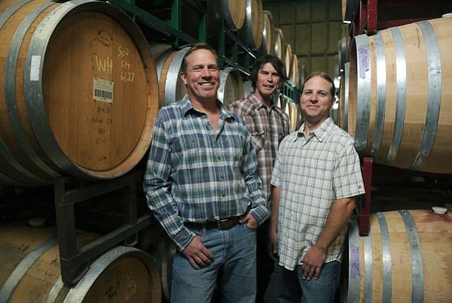 John (left) and Steve (right) Dragonette and close friend Brandon Sparks-Gillis (center).