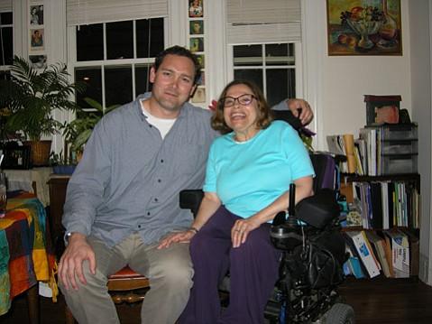 Brent Elder and Judy Heumann