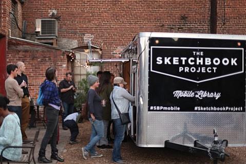 Steven and Sara Peterman's art project on wheels rolls through Santa Barbara on August 1.