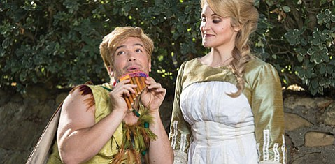 MAGIC MOZART: John Brancy will sing Papageno and Julie Adams will sing Pamina in the Music Academy's upcoming production of The Magic Flute.