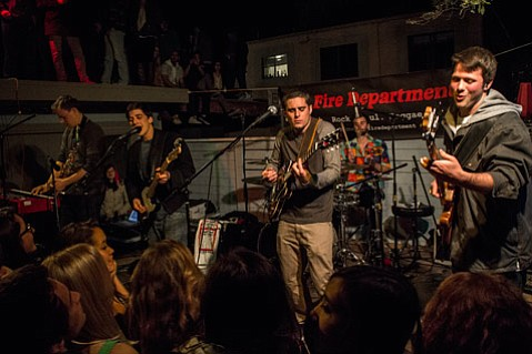 <b>HEATING UP:</b> Isla Vista party rockers The Fire Department are just one of the bands scheduled to play Fiesta's Viva La Music Stage at Casa de la Guerra this weekend.