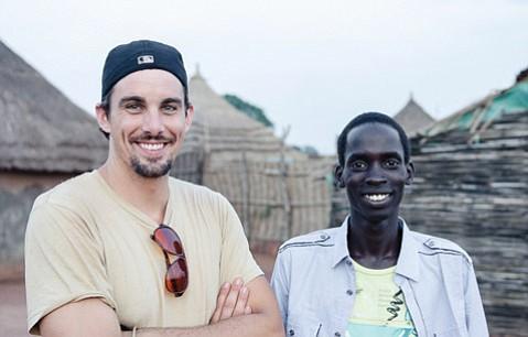 <b>MOVIE MAGIC:</b>  Producer EriK Lohr (left) smiles with his subject, Matiok's great-nephew Nyuol Tong.