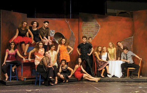 SITTING PRETTY: Upstage Left's Cabaret features (front row, from left) Sable Layman, Rio Salazar, Sofi a Ross;