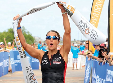 <b>WINNING:</b>  Emma-Kate Lidbury (pictured) became a professional triathlete in 2008 and since then has amassed a slew of wins, including coming in first place in April's Memorial Hermann Ironman 70.3 Texas. Lidbury will next try to dominate the long-course of the S.B. Triathlon this Saturday.