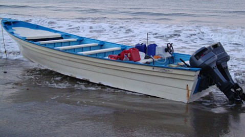 Panga boat discovered September 13 on Arroyo Quemada Beach