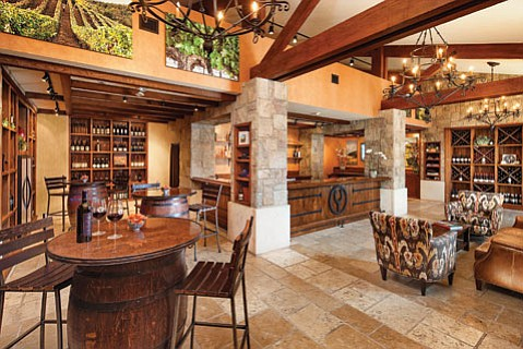 <b>HIGH SOCIETY:</b> The Bacara's new Foley tasting room features hundreds of wines from the portfolio spearheaded by patriarch Bill Foley.