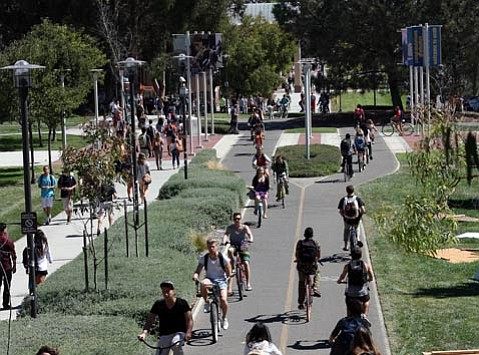 The University boasts 10 miles of bike paths.