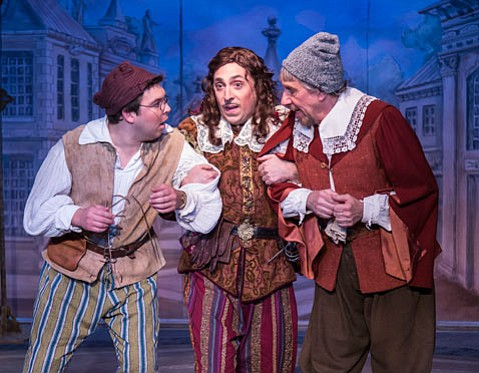 <b>COMEDY TONIGHT:</b>  David Ives's adaptation of Pierre Corneille's comedy <i>The Liar</i> was a big hit for Ensemble at Alhecama Theatre.