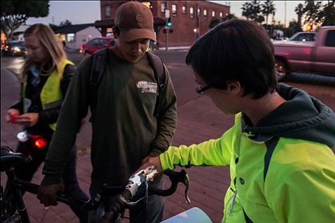 The Santa Barbara Bicycle Coalition sponsored <em>Illuminando la Noche</em> in Goleta and Carpinteria, and along State and Milpas streets, and mounted front and rear LED lights on 700 bicycles.