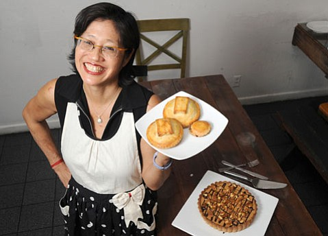 <b>IF YOU BAKE IT:</b> Jacqui Wou's Tartisan pies have found a permanent home at The Blue Owl. Currently, the lunch and latenight eatery is offering two sweet and two savory Tartisan pies as part of its daily menu.