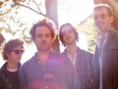 <b>RIDIN' HIGH:</b>  Dawes is (from left) Griffin Goldsmith, Taylor Goldsmith, Wylie Gelber and Tay Strathairn.
