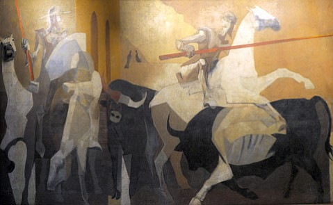 <b>SNEAK A PEAKE:</b> Santa Barbara's preserved murals include a collaboration by greats Channing Peake and Howard Warshaw depicting Don Quixote at the Public Library.