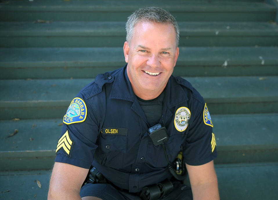 Sgt. Ed Olsen was instrumental in getting the SBPD's restorative policing program off the ground
