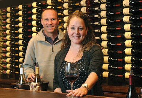 <b>URBAN ADDITION:</b> Sanford Winery's Steve Fennell and Jami McDowell are happy to be pouring in La Arcada.