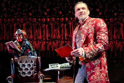 <b>HELL-BENT:</b> Karen Wright (left) and Brent Harris star in C.S. Lewis's <i>The Screwtape Letters</i>.