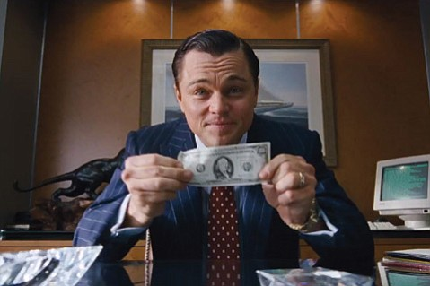 <b>MONEY, HONEY:</b>  Leonardo DiCaprio stars in <i>The Wolf of Wall Street</i> and comes to town with director Martin Scorsese February 6 for SBIFF.
