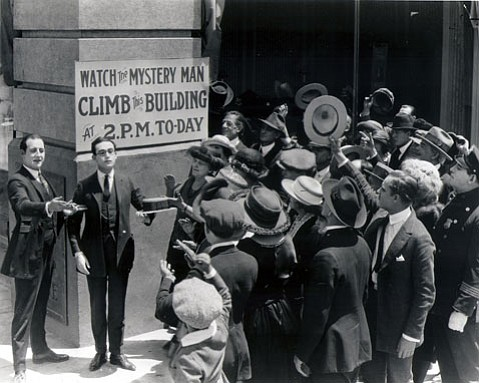 A still from <em>Safety Last!</em>, starring Harold Lloyd