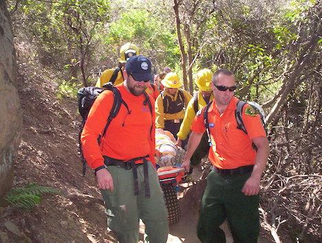Hiker Rescued In San Ysidro Canyon