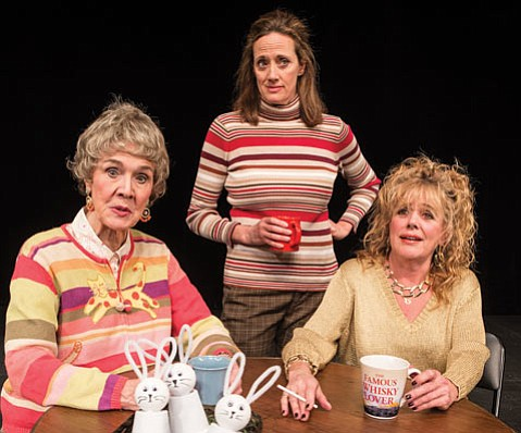 <b>CLASS ACT:</b> (from left) Catherine E. Coulson, Alicia Sedwick, and DeeDee Rescher star in Ensemble Theatre Company's production of <i>Good People</i> , which premieres at the New Vic this Thursday.