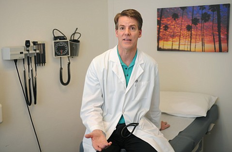"<b>SHORTCHANGED?</b>  Dr. Scott Kozak said Covered California reimbursement rates for new patients are much lower than what he's used to. ""If I make 30 percent less than my fee schedule, it makes it impossible for me to give you care,"" he explained."