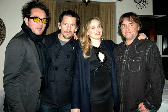 Roger Durling, Ethan Hawke, Julie Delpy, and Richard Linklater