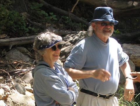 Barry Spacks and his wife, Kimberley Snow, on a hike through Arroyo Hondo Preserve in 2004.