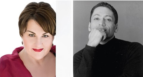 <b>OPERA LIGHT:</b> Mezzo-soprano Catherine Cook (left) and artistic director Jose Maria Condemi will join forces in the Funk Zone to discuss their upcoming production of Falstaff.