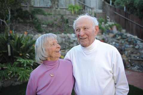 George and Ruby Glass have been sweethearts since high school in Paris, Texas. The couple married in November 1942, moved to Goleta in 1944, and have been here and together ever since.