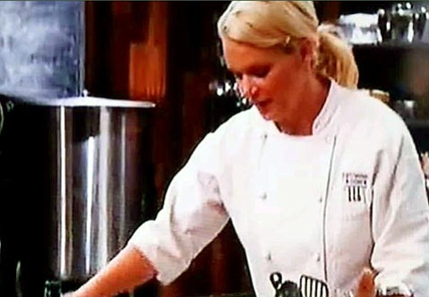 Screen shot of Brooke Egger's appearance on the Food Network.