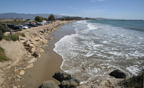 <b>AT LONG LAST:</b> After much speculation about what the future of Goleta Beach would hold, the supervisors voted 5-0 Tuesday to request a permit for the current rock revetments. Janet Wolf — supervisor of the district in which the beach is located — spearheaded the board's plan.