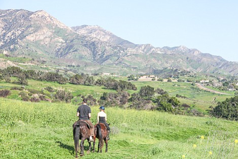 Both equestrian use such as shown here at San Marcos Preserve as well as mountain biking would be banned in the final Management Plan for the area.