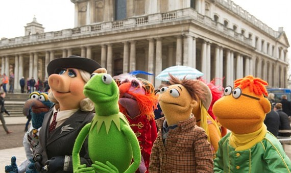 THE GANG'S ALL HERE: Jim Henson's Muppets return to the big screen alongside Ricky Gervais and Tina Fey in <em>Muppets Most Wanted</em>.