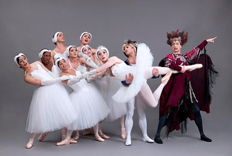 <b>THE MEN, THE MYTH:</b>  The men of Les Ballets Trockadero de Monte Carlo return to UCSB's Campbell Hall this Tuesday, April 8.