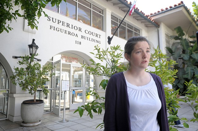 Thrin Short shared her thoughts on the Miller-Young case outside the courthouse Friday. (April 4, 2014)