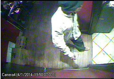 The man depicted in the photograph is the suspect in an attempted sexual assault that occurred in a business on the 700 block of State Street on April 1, 2014 at 9:00 p.m.