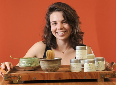 Lauren Danson, owner of Mizuba Tea Company.