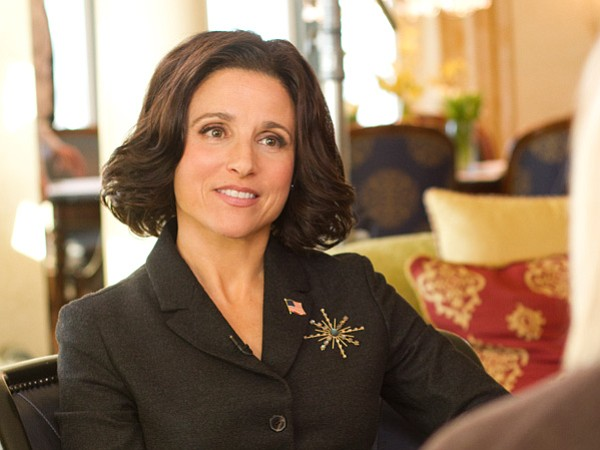 Julia Louis-Dreyfus stars as the overly ambitious and woefully inadequate vice-president Selina Meyer in HBO's <em>Veep</em>.