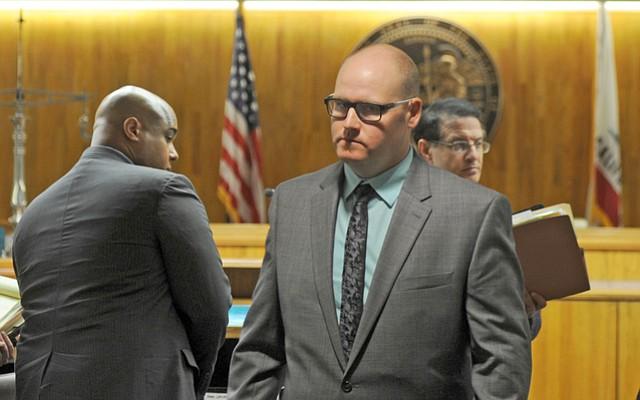 Christopher Johnson (left) and Robert Kirsch in Santa Barbara Superior Court