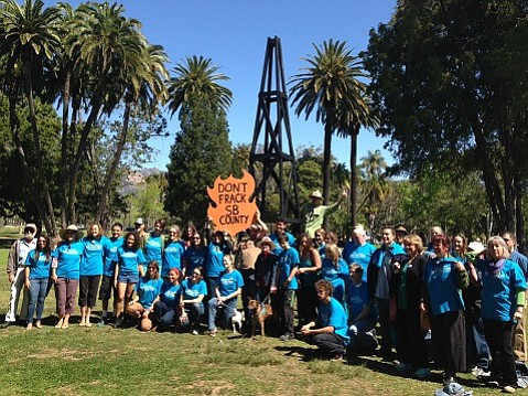Volunteers gather for Water Guardians' grassroots campaign to add a November ballot measure to ban fracking in the county