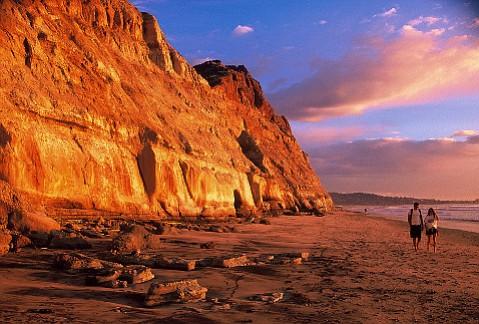 Torrey Pines State Beach in La Jolla