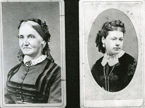 <b>HOLLISTERS AT HOME:</b>  When his sister, Lucy Brown (left), and wife, Hannah Annie James Hollister, both claimed dominion over his home, W. W. Hollister built his wife a larger home at Glen Annie Ranch.