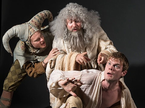 <b>BARD GAMES:</b> Shakespeare plays a prominent role in Bill Cain's Equivocation, which opens on campus at UCSB this Friday. Theater students (from left) Dillon Francis, Joe Caldwell, and Ian Elliott star.