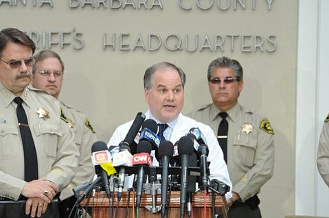 Stephen S. Kaminski speaks at Santa Barbara Sheriff's press conference on the Isla Vista shooting (May 24, 2014)
