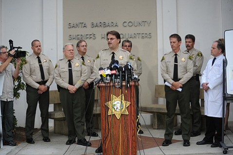 <b>AUTHORITIES' AUTHORITY?</b> Sheriff Bill Brown revealed the grisly details of the Isla Vista shooting spree at Saturday's press conference, but questions remain unanswered. Perhaps the most pressing for the future: Are there any laws or law enforcement strategies that could have helped prevent the tragedy?