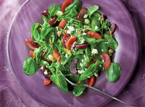 Plum and Watercress Salad