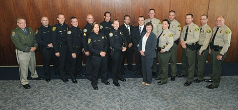 The 2013 recipients of the 45th Annual Thomas Guerry Award to recognize outstanding law enforcement officers in Santa Barbara County