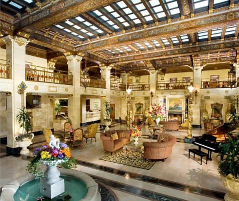 Lobby of Spokane's Davenport Hotel