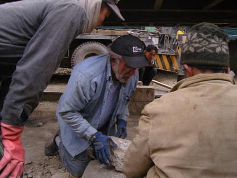 Building a clinic in Afghanistan.