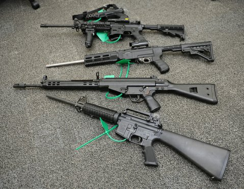 Police collected six assault weapons at Saturday's buyback